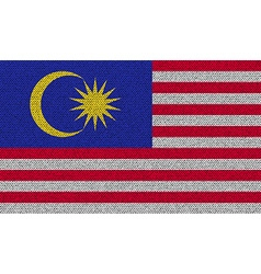 Flags malaysia on denim texture vector