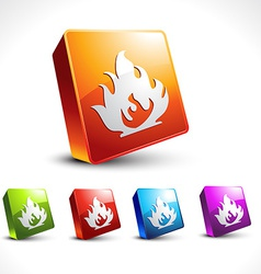 flame style icon vector image vector image
