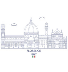 florence city skyline vector image