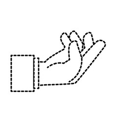 Human hand catching icon vector
