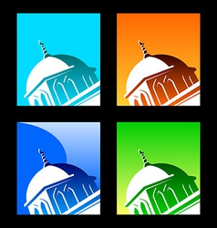 Islamic logo element vector