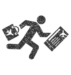 Late passenger icon rubber stamp vector