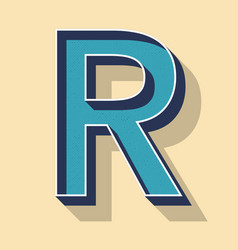 Letter r retro text style fonts concept vector