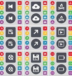 Media skip cloud campfire floppy full screen media vector