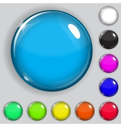 Multicolored glass buttons vector image vector image