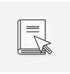 Online internet education icon vector image