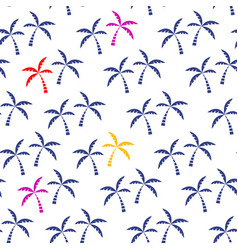 palm tree tropical seamless pattern vector image