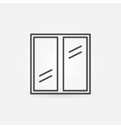Plastic window icon vector