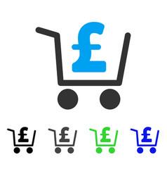 Pound checkout flat icon vector