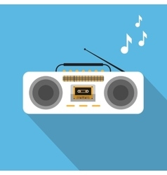 Retro ghetto blaster vector image