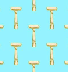 Sketch vintage razor in vintage style vector image vector image