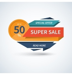 Super Sale banner template vector image vector image