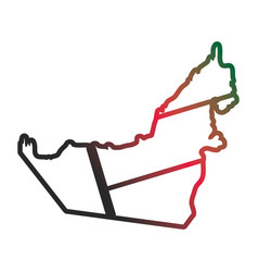 United arab emirates country silhouette neon lines vector