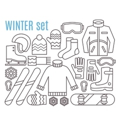 Winter sport activities vector image