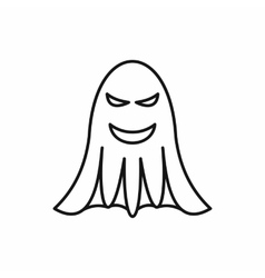Ghost icon in outline style vector