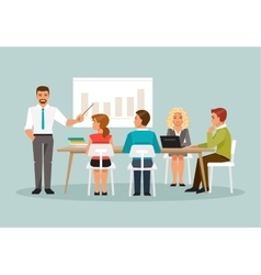 Office meeting vector image