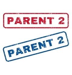 Parent 2 rubber stamps vector