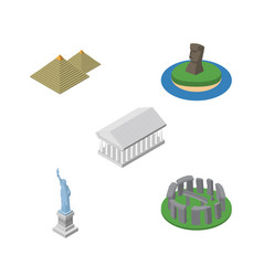isometric attraction set of england new york vector image