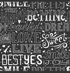 Seamless pattern with hand drawn words and phrases vector