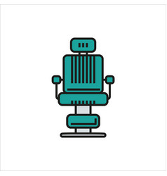 Barber chair simple icon on white background vector