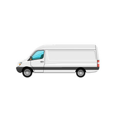 Commercial cargo van isolated icon vector