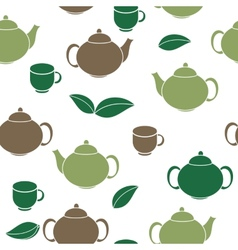 Tea Seamless Pattern Background vector image