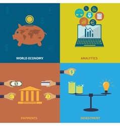 World economy vector