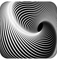 Abstract op art design vector
