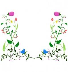 flower leaf ornament vector image