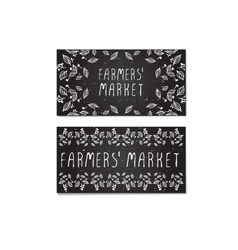 Farmers market cards hand-sketched vector
