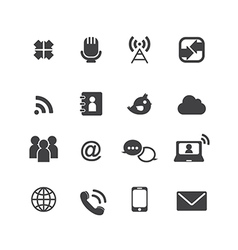 Web communication icons vector image