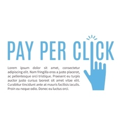 Pay per click internet advertising banner vector