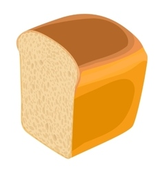 Wheat bread icon realistic style vector
