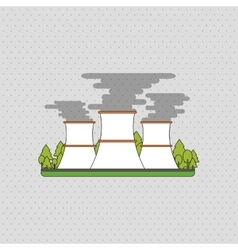 Industry design factory icon flat vector