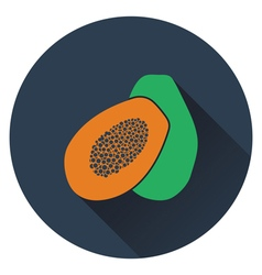 Papaya icon vector