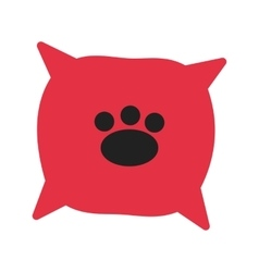 Dog cushion vector