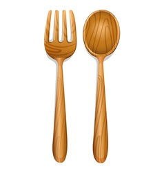 a wooden spoon vector image