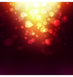 Abstract golden holiday background bokeh effect vector