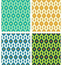 Abstract seamless patterns set vector