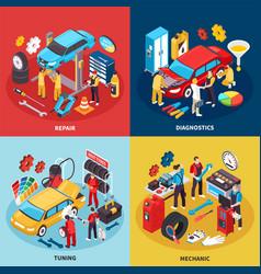 Auto service concept icons set vector