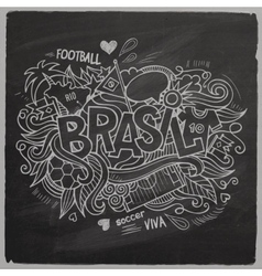 Brazil 2014 On Chalkboard vector image