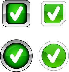 Check button set vector