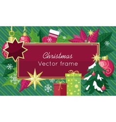 Christmas Sale Frame Flat Style Concept vector image vector image