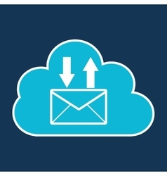 Cloud technology web language email vector