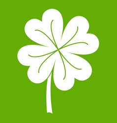 clover leaf icon green vector image