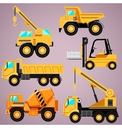 Construction machinery set vector