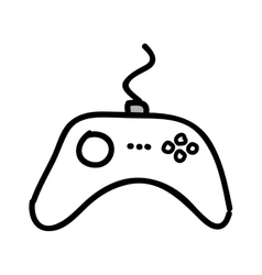Control video game isolated icon design vector image