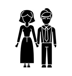 family woman and man icon vector image