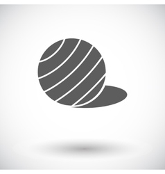 Fittball single icon vector image