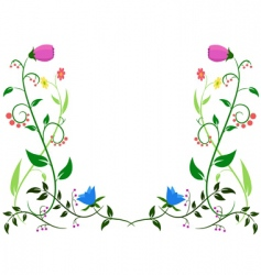 flower leaf ornament vector image